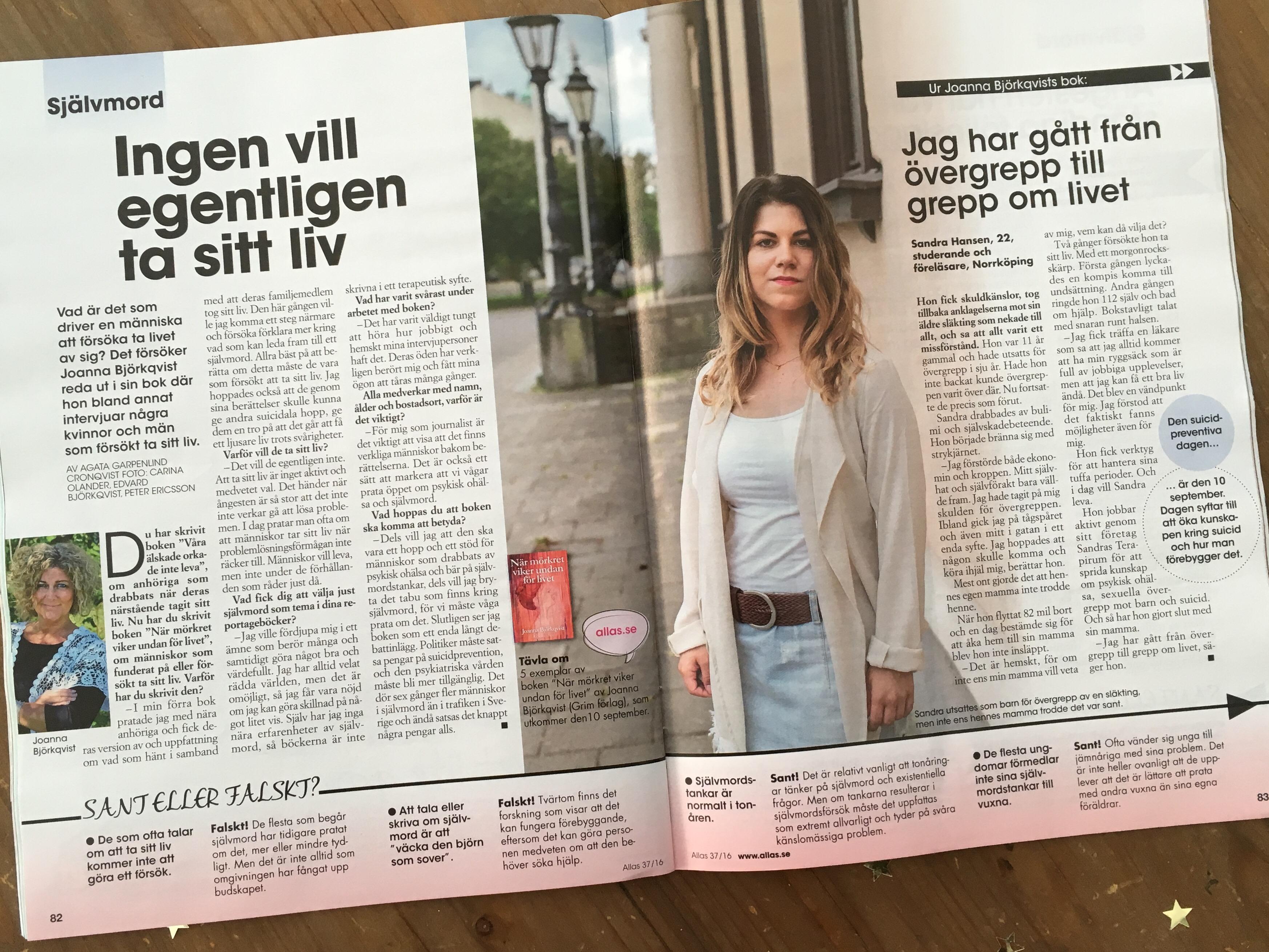 Allas Veckotidning Joanna Björkqvist